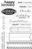 Paula Pascual Designs - Everyday Tab Messages - Clear Stamp - CICSA6256